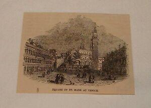 1876-Revista-Grabado-Cuadrado-de-St-Marca-Venice-Italia