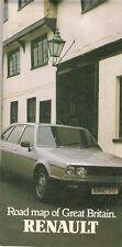 Renault Dealer List Road Map 1981-82 UK Market Brochure