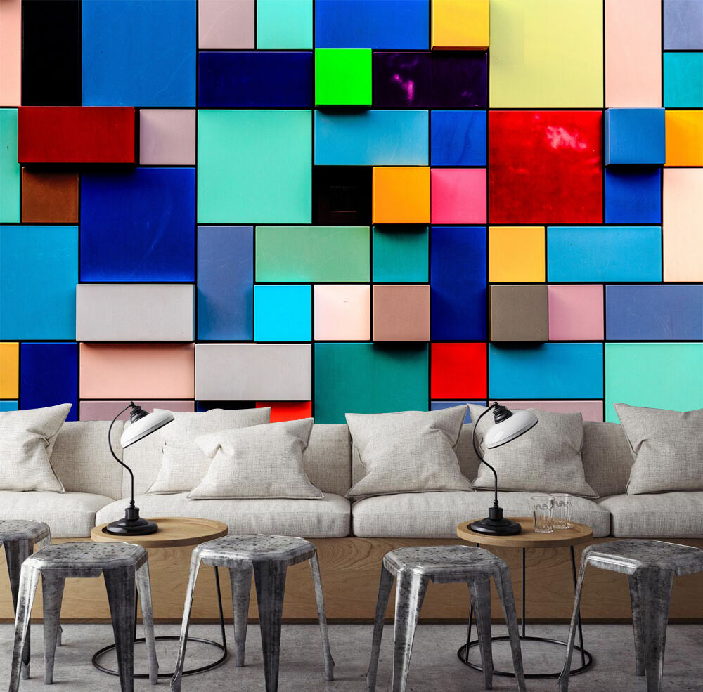 3D Farbe lattice 77 Wall Paper Print Decal Wall Deco Indoor wall Mural