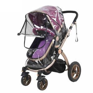 Baby-Stroller-Cover-Transparent-Waterproof-Umbrella-Stroller-Wind-Shield-Cover