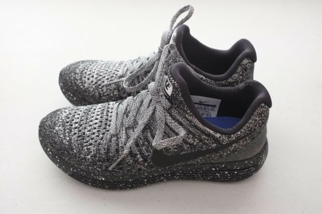 512386a0834c Nike Womens Lunarepic Low Flyknit 2 Running Shoes Black White 863780-041  Size 7