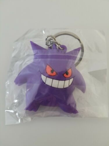 Fast Shipping double-sided Pokemon Gengar Rubber Keychain