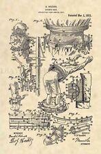 Official 1921 Diving Suit US Patent Art Print- Houdini SCUBA Diver Antique - 471