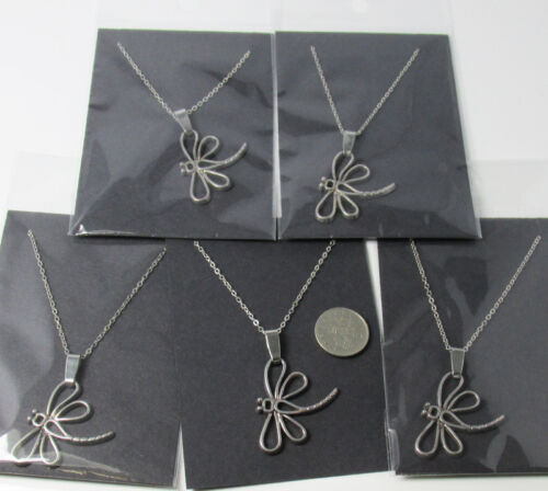 5x Silver Dragonfly Necklaces,Job Lots Jewellery Wholesale FREE 1ST CLASS P/&P UK