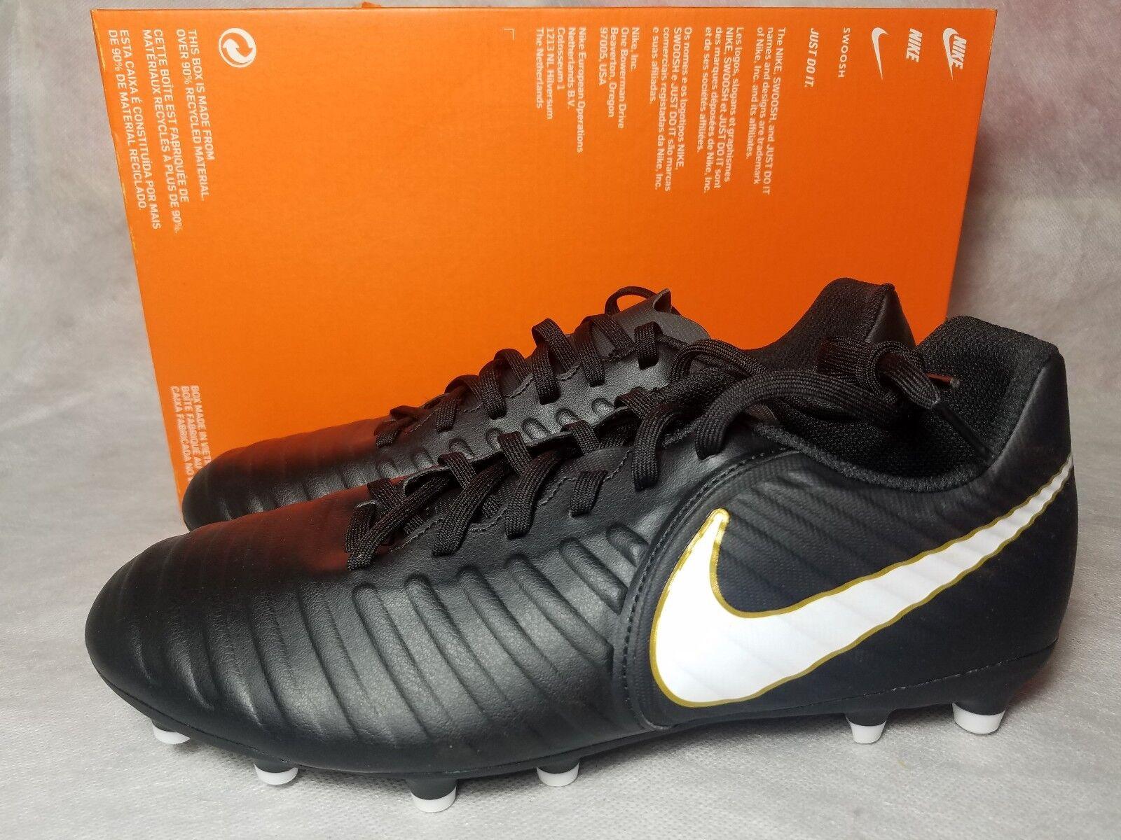 sneakers for cheap 9d0e1 332ac ... spain new nike tiempo rio iv oro fg soccer cleat negro oro iv blanco de  cuero