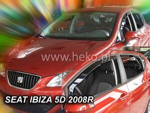 Windabweiser für Seat Ibiza 4 6J//6P 2008 Schrägheck Hatchback 5türer vorne