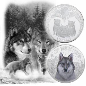 WR-Snow-Wolf-Silver-Coin-2-Dollars-Elizabeth-ii-Anniversary-Souvenir