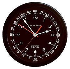 """Zulu Time Aviation Wall Clock by Trintec - 14"""" -  Black Face - ZT14-1"""