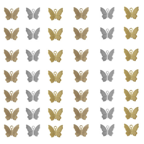 10Pcs Alloy Butterfly Insect Animal Charm Pendants DIY Necklace Earring Bracelet