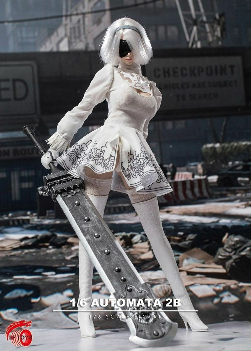 TFTOYS TF03 1 6 Female White Clothing Suit F F F 12'' YoRHa 2B Figure Accessories bce4a9