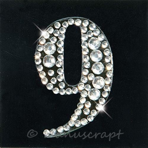 "ARTOZ creamotions strass monogramme sticker/"" 9/"""