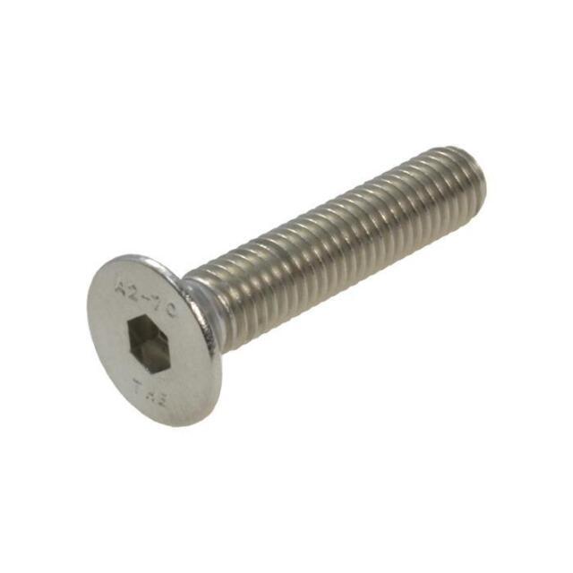 G304 Stainless Steel M12 (12mm) Metric Coarse Countersunk Socket Screw Allen