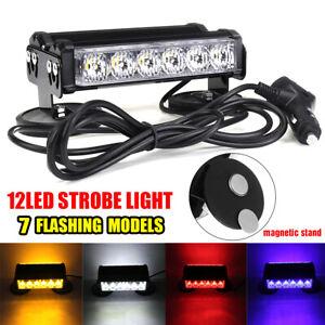 LED-Car-Strobe-Light-Bar-Double-Side-Flash-Warning-Hazard-Emergency-Beacon-Lamp