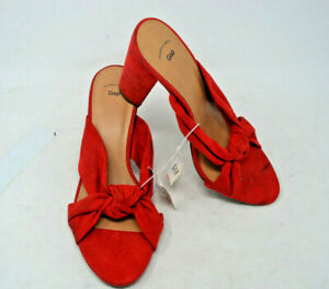 uk store cozy fresh amazing selection Gap Factory Women's Red Knotted Strap Faux Suede Block Heel Mules ...