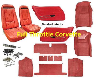 1970 1975 Corvette Interior Package Carpet Door Panels Seat Covers Kit Ebay