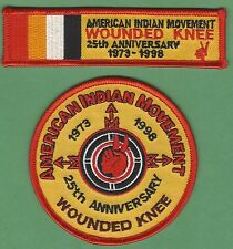 AIM AMERICAN INDIAN MOVEMENT REMEMBER WOUNDED KNEE 25TH ANNIVERSARY PATCH SET