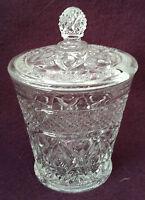 "IMPERIAL GLASS OHIO CLEAR GLASS MARMALADE / JAM / JELLY JAR - CAPE COD - 5"""