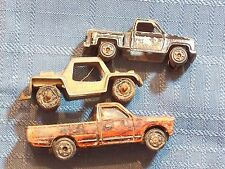 TOY CARS LOT 3 ORANGE DATSUM PICKUP ZYLMEX P319; BAJA RUN; BLACK CHEVY STEP SIDE