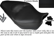 BLACK STITCH CUSTOM FITS HONDA VFR 1200 F 09-13 DUAL LEATHER SEAT COVER