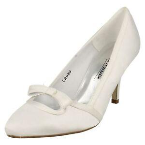 Scarpe Sposa Ebay.Anne Michelle L2r989 Donna Raso Bianco Tacco Sposa Scarpe R2a Ebay