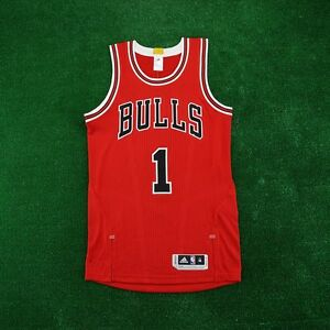 factory authentic 8e803 31368 Details about 2015-16 Derrick Rose ADIDAS Chicago Bulls Authentic On-Court  Away Red Jersey
