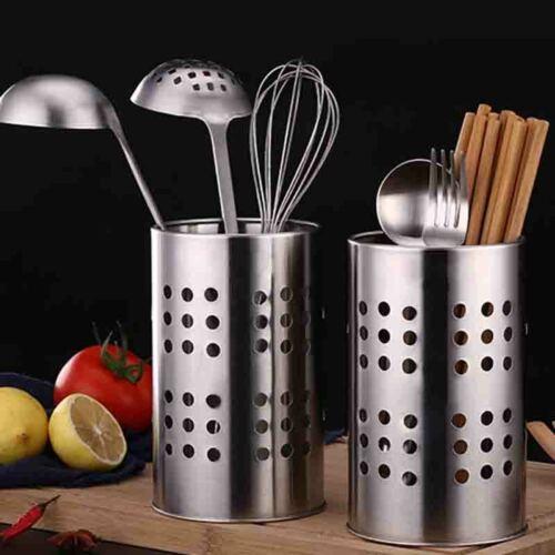 Organizer Chopsticks Holder S//L Tableware Circular Stainless Steel Tube