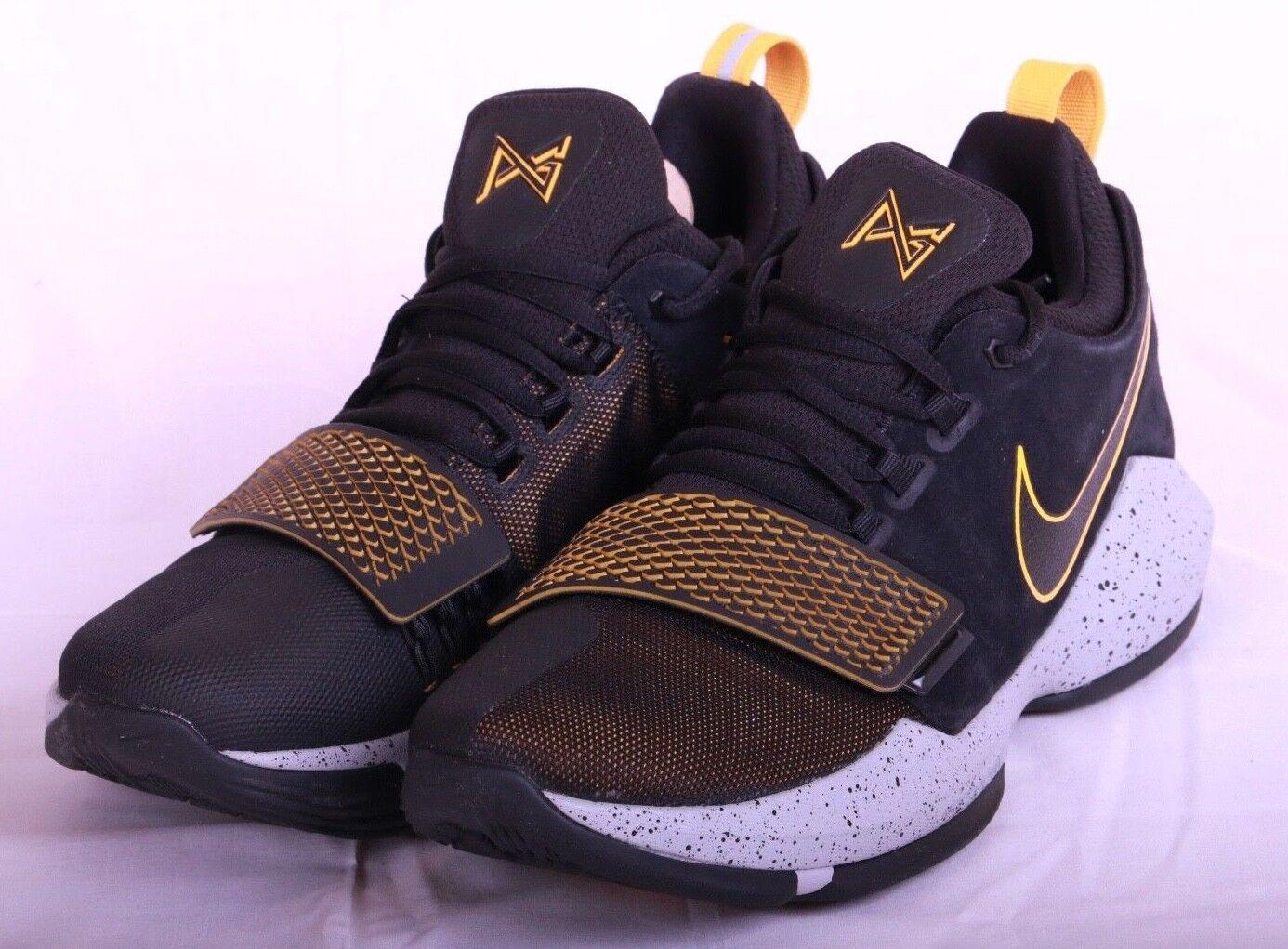 77807551b0da Nike PG 1 Mens Black Grey Grey Grey University Gold Basketball Shoes 878627  006 Size 10.5 30ee53