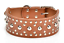 Studded-Spiked-Metal-Dog-Collage-Faux-Leather-Collar-Pitbull-Mastiff-BLACK-RED thumbnail 5