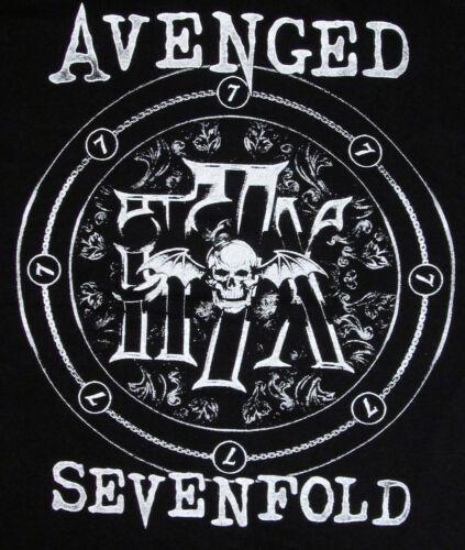 AVENGED SEVENFOLD Deathbat Emblem T-shirt Heavy Metal A7X Tee Adult Men  New