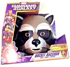 NEW-Hasbro-Marvel-Guardians-of-the-Galaxy-Rocket-Raccoon-Kid-039-s-Moving-Toy-Mask