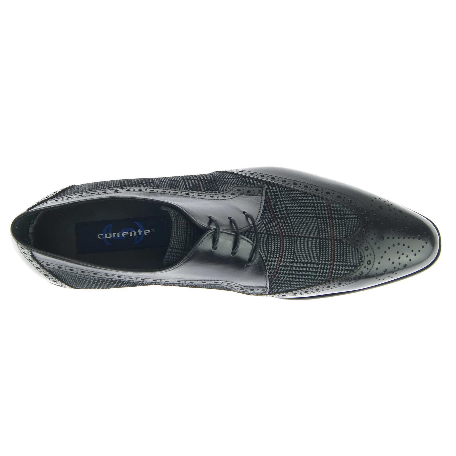 Corrente 3750 Wingtip Kleid Derby, Herren Kleid Wingtip Leder Oxford Schuhe, Schwarz 0dab2c