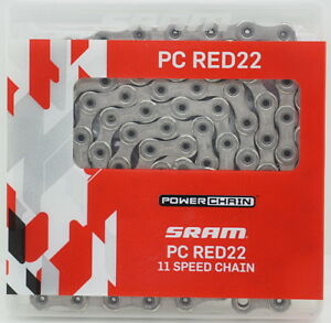 New SRAM PC-Red 22 Hollow pin Chain 114 links 247 grams