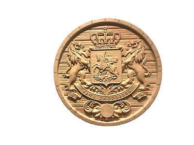 """Coat of Arms of Georgia (Republic) 15-1/2"""" Diameter"""
