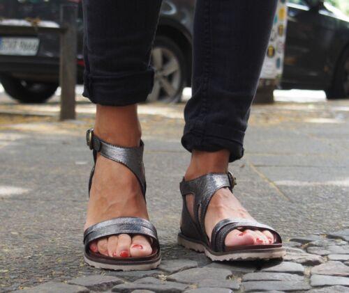MJUS Schuhe TITLE-LICIA 255019 inox metallic grau Damensandalen A.S.98 Sandalen