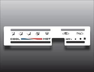 1986-1995-Suzuki-Samurai-Square-Vent-White-Heater-Control-Switch-Overlay-HVAC