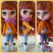 Elephant sweater for Blythe, Azone Pure Neemo, Licca, bjd Dolls.