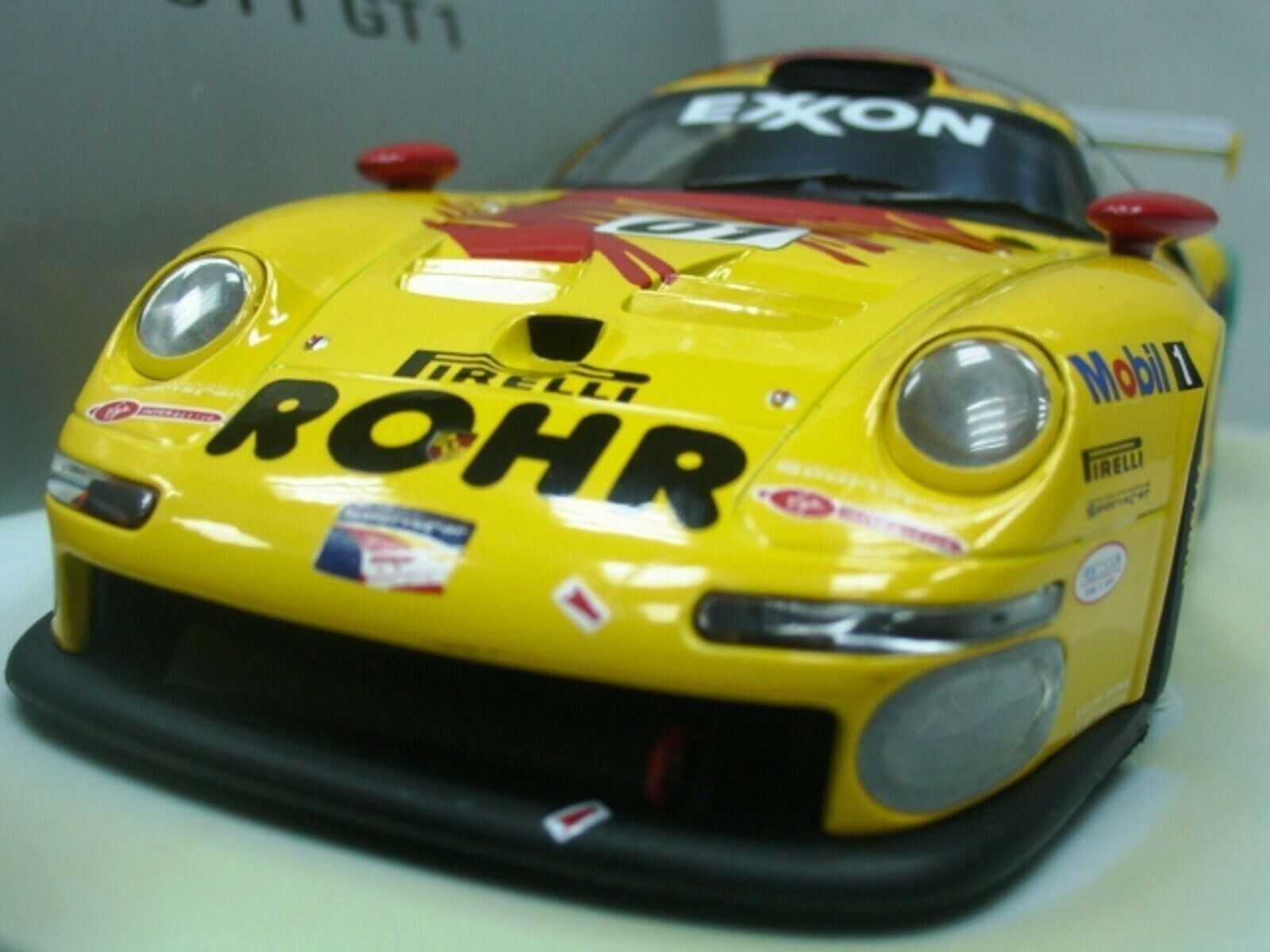 WOW estremamente raro PORSCHE GT1 #01 Rohr Winner Sebring 1997 1:18 Minichamps/UT