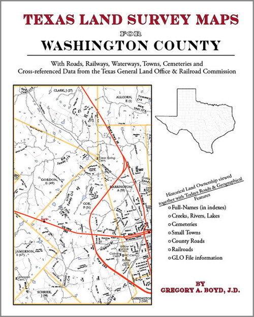 Washington County Texas Land Survey Maps Genealogy TX