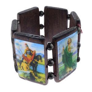 Armband Aus Holz Holzarmband Brasilien - Escapulario - Hl. Motive Maria Jesus Hohe QualitäT Und Geringer Aufwand