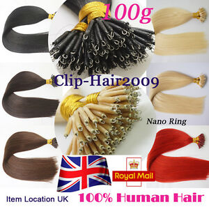 7A-Quality-16-034-24-034-Nano-Ring-Tip-Human-Real-Remy-Hair-Extensions-1g-s-UK