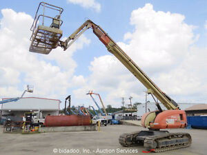 2004-JLG-660SJC-66-039-Telescopic-Boom-Lift-Crawler-Track-Aerial-Jib-Parts-Repair