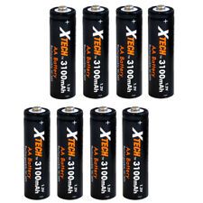 AA Rechargeable Batteries Ultra High-Capacity 3100mah Ni-MH  (8 pack) Xtech