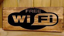 WIFI Wi-Fi Free Internet segno Cafe, bar, club, ufficio, hotel, negozio Rustico di Legno