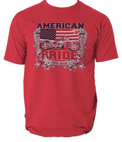 American pride t shirt motorcycle usa club garage vintage S-3xl