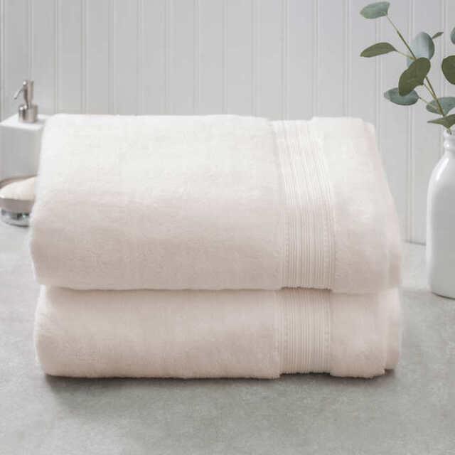 Color: Ivory - 35x70 100/% Soft HygroCotton Charisma Bath Sheet Towels Set 2