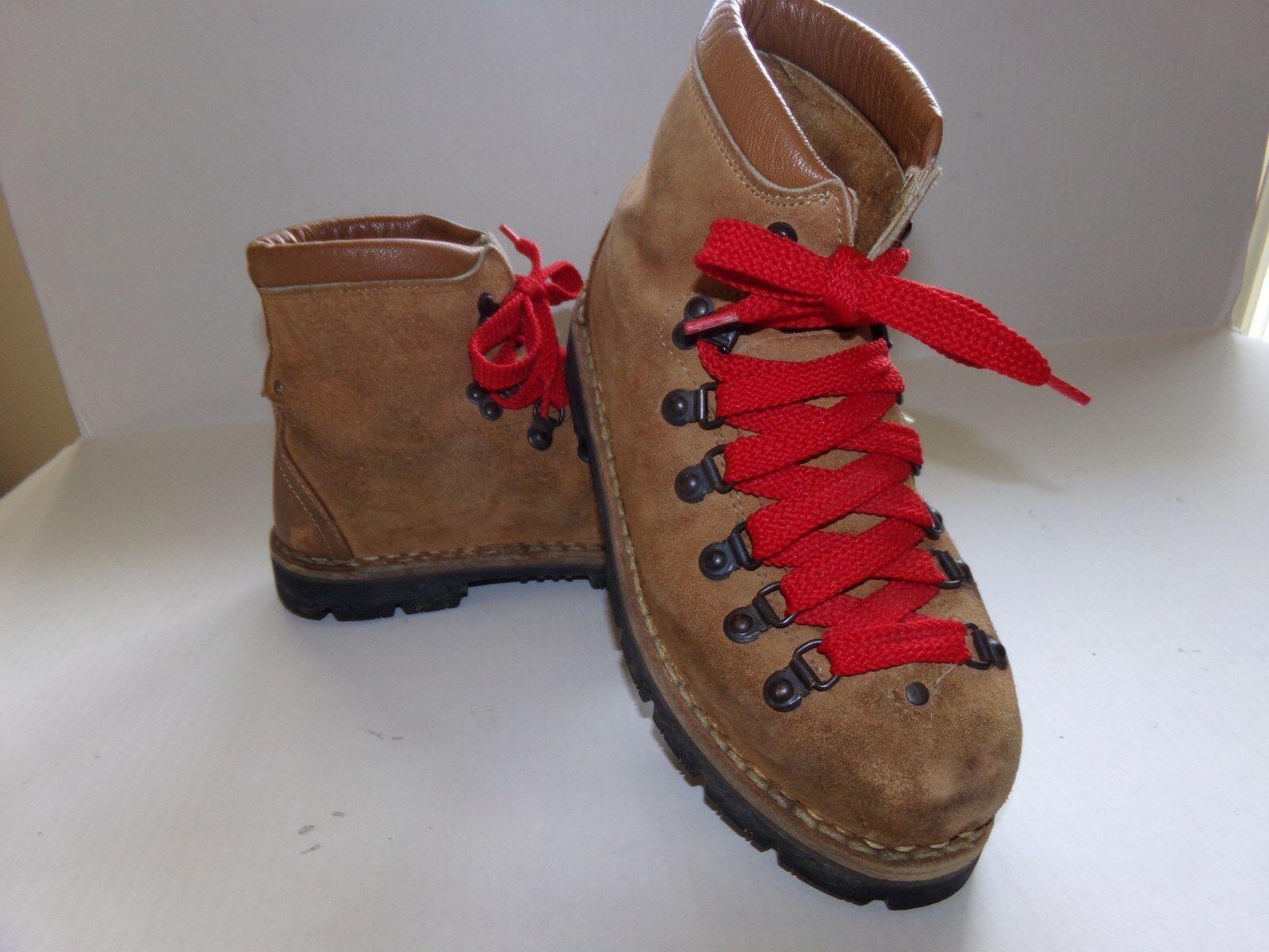 Hombre Vintage montañismo la escalada Senderismo botas De Gamuza D
