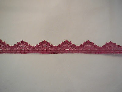 Purple Pink Floral lace trim / dress hemming lace trim in 2cm - 3cm . Per Yard