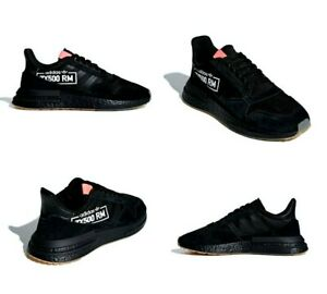 new york 34ddc 74aea Image is loading Adidas-ZX-500-RM-Special-Edition-Black-Red-
