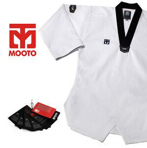 Men Mooto Taekwondo V Neck Uniform Dobok Gi Training TKD  WTF KTA Approved New