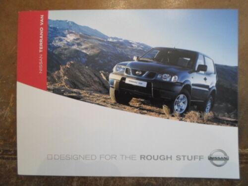 NISSAN TERRANO VAN orig 2003 UK Mkt Sales Brochure